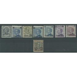 1924 REGNO ITALIA EFFIGI VITT EMANUELE III SOPRASTAMPATI 8 V MNH MF10075