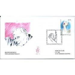 2011 FDC VENETIA 478 VATICANO BEATIFICAZIONE PAOLO II -  1 VAL  MF16534