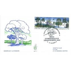 2011 FDC VENETIA 480 VATICANO LE FORESTE  2 VAL  MF16535