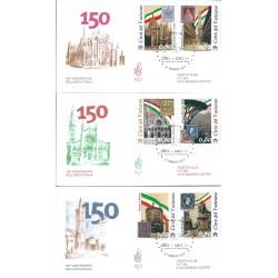 2011 FDC VENETIA 476  VATICANO  150 UNITA ITALIA 6 VAL  MF16536