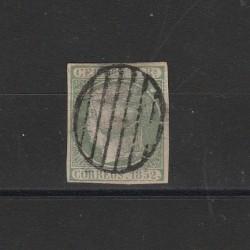 1852 SPAGNA ESPANA ISABELLA II A SINISTRA 5 R VERDE - N 15 USATO DIENA MF23120