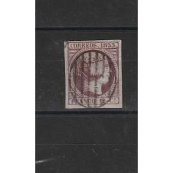 1853 SPAGNA ESPANA ISABELLA II 12 C VIOLETTO - N 18 - USATO MF17867