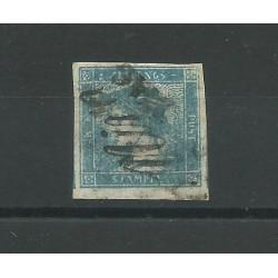 LOMBARDO VENETO 1851 GIORNALI MERCURIO CARTA A COSTE VERT USATO SORANI MF24184