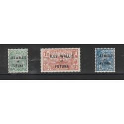 ILES WALLIS ET FUTUNA 1920 SOPRASTAMPATI 17 VAL  MLH YVERT 1-17 MF16319