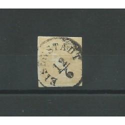 1851 AUSTRIA OSTERREICH GIORNALI MERCURIO 6 KR. GIALLO USATO FERCHENBAUER MF25042