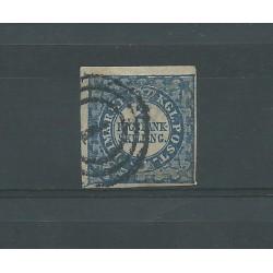 1852 DANIMARCA DANMARK CIFRA E STEMMA UNIF. N. 1 USATO CERT E DIENA MF25043