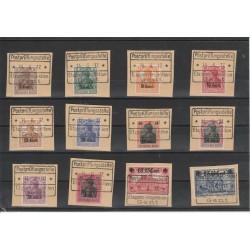 1916 GERMANIA OCCUPAZIONE DEL BELGIO 12 VAL UNIF 1-12 USATI  MF50374