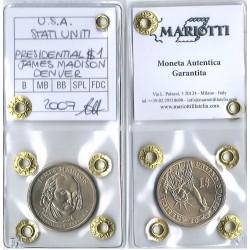 2007  USA STATI UNITI PRESIDENTIAL 1 DOLLARO JAMES MADISON DENVER MF41040