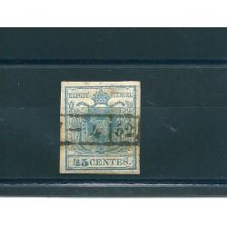 LOMBARDO VENETO 1852 45 CENT AZZURRO USATO  MF13283