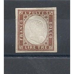 1861-63 SARDEGNA VITTORIO EMANUELE II 1 VAL MLH MF13337