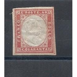 1861-63 SARDEGNA VITTORIO EMANUELE II 1 VAL MLH  MF13339