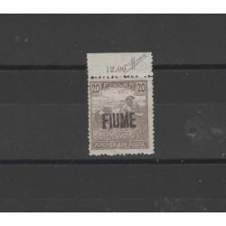 1918 FIUME  MIETITORE SOPRASTAMPA A MANO  SASSONE  N° 1 MLH MF52436