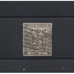 DUCATO DI MODENA 1853 1 LIRA BIANCO SASSONE N 11 USATO CERT A DIENA MF21504