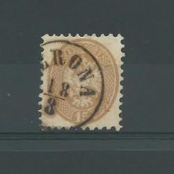 LOMBARDO VENETO 1864 - 65 15 SOLDI BRUNO SASSONE N 45 USATO CAFFAZ MF21735