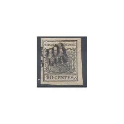 LOMBARDO VENETO 1850 10 CENT NERO SASSONE N 2 USATO FTO CAFFAZ MF8641