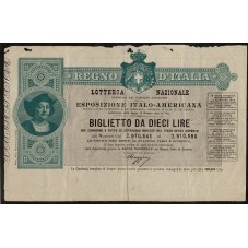 1892 BIGLIETTO LOTTERIA...