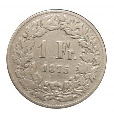 1875 SVIZZERA 1 FRANCO - B...