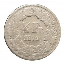 1879 SVIZZERA 1/2 FRANCO -...