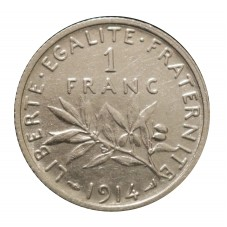 1914 FRANCIA 1 FRANC -...
