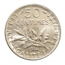 1914 FRANCIA 50 CENTIMES -...