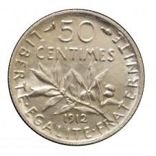 1912 FRANCIA 50 CENTIMES -...