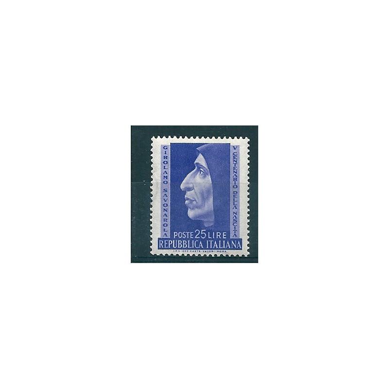1952 repubblica italiana nascita savonarola 1 val mnh for Repubblica italiana nascita