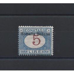1909 SOMALIA SEGNATASSE...