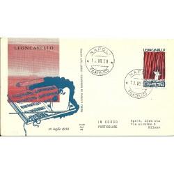 1958 FDC ITALIA CENTENARIO...