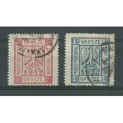 1917 POLONIA POLSKA EMISSIONI LOCALI PRZEDBORZ DENTELLATI 2 VALORI USATI CAFFAZ MF23160