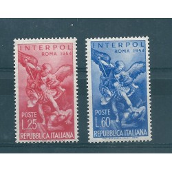 1954 REPUBBLICA ITALIANA  INTERPOL   2  VAL  MNH MF15970