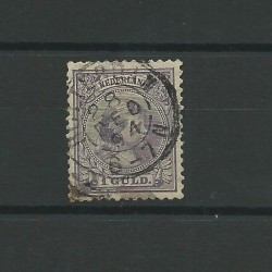 1891 OLANDA NEDERLAND 1 G REGINA GUGLIELMINA - N 45 - 1 V USATO CAFFAZ MF23169