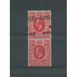 EAST AFRICA UGANDA 1919 4 C SU 6 C PAIR ONE WITHOUT SURCH MLH CAFFAZ MF23200