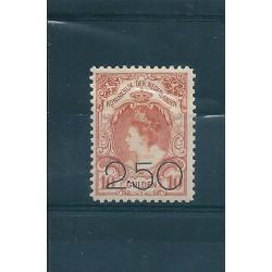 1920 OLANDA NEDERLAND EFFIGIE REGINA GUGLIELMINA SOPRAST 2 V MNH CAFFAZ MF23159