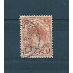 1920 OLANDA NEDERLAND EFFIGIE REGINA GUGLIELMINA SOPRAST 1 VAL USATO   MF16142