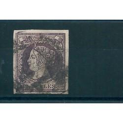 1860  SPAGNA ESPANA EFFIGIE ISABELLA II VOLTA A SINISTRA 2 R - UN VAL USATI MF16187