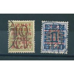 1923 OLANDA NEDERLAND SOPRASTAMPATI UNIF N 129-130 - 2 VALORE USATI MF16220