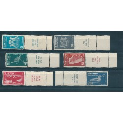 1950 ISRAELE ISRAEL LINEE AEREE  BANDELLA COMPLETA 6 V MNH MF16197