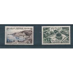 TUNISIA TUNUSIE 1953 VEDUTE 2 VAL MNH YVERT PA 18-19 MF 16316