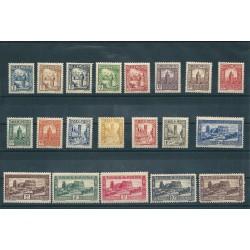 TUNISIA TUNISIE 1931-33 SOGGETTI VARI 20 VAL MLH YVERT 161-180 MF16318