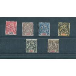 GRANDE COMORE 1900-07 DEFINITIVA 6 V MLH MF16327