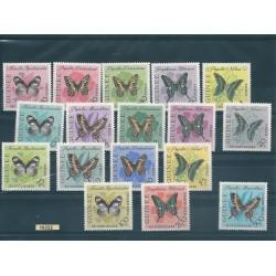 PAPUA  NEW GUINEA 1963 ELIZABETH  FARFALLE 17 VAL MNH MF16332