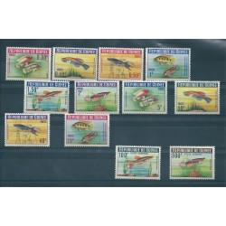 GUINEA FRANCESE GUINEE 1964 PESCI 14 VAL MNH MF16336