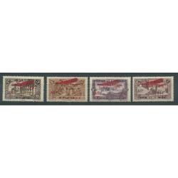 1926 SIRIA SYRIE SERIE POSTA AEREA SOCC RIFUGIATI SOPRASTAMPATA 4 V MLH YV N A34-A37 MF23346