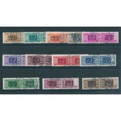 1947 - 48 TRIESTE A SERIE PACCHI POSTALI 12 VAL USATI MF16608