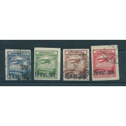 1924 RUSSIA  POSTA AEREA SOPRASTAMPATO ND 4 VAL  USATI MF16644