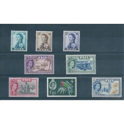 FIJI 1956-59 DEF ELISABETTA II SOGGETTI DIVERSI 8 V MlH YV 147-54 MF16646