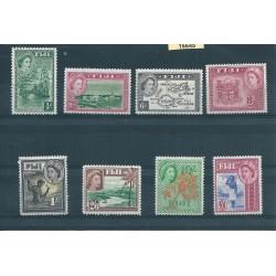 FIJI 1954 DEF ELISABETTA II SOGGETTI DIVERSI 8 V MLH YV 137-44 MF16645