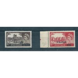 MASCATE  OMAN 1955-57 ALTI VALORI  10 VAL MNH YVERT N 38-39 MF16667