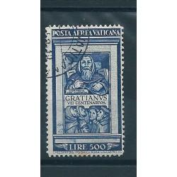 1951 VATICANO VATICAN CITY PA GRAZIANO LIRE 500 UN VAL USATO  MF16705