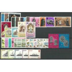1977 - 1978 JERSEY ANNATE COMPLETE 35 VALORI NUOVI MNH MF23511